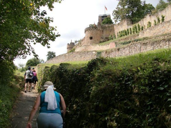 Harter Aufstieg zur Wachtenburg