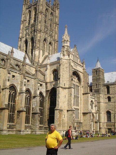 Der Träger des Gelben Trikots in Canterbury