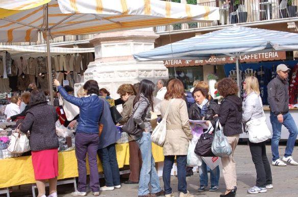 Markttreiben in Vicenza