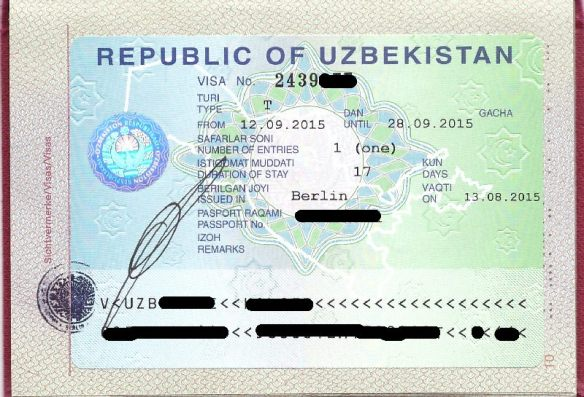 Das Visum der Republik Usbekistan