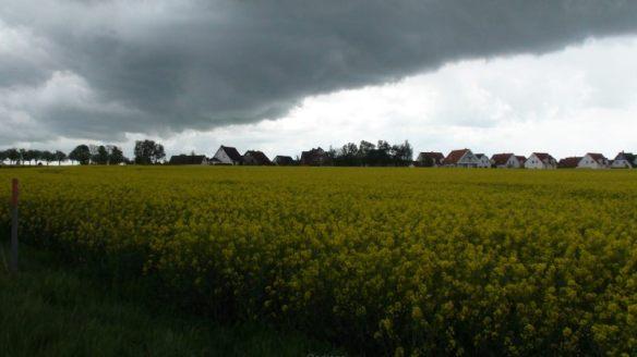 Eigentlich hat man es ja kommen sehen: Gewitterfront über Timmendorf