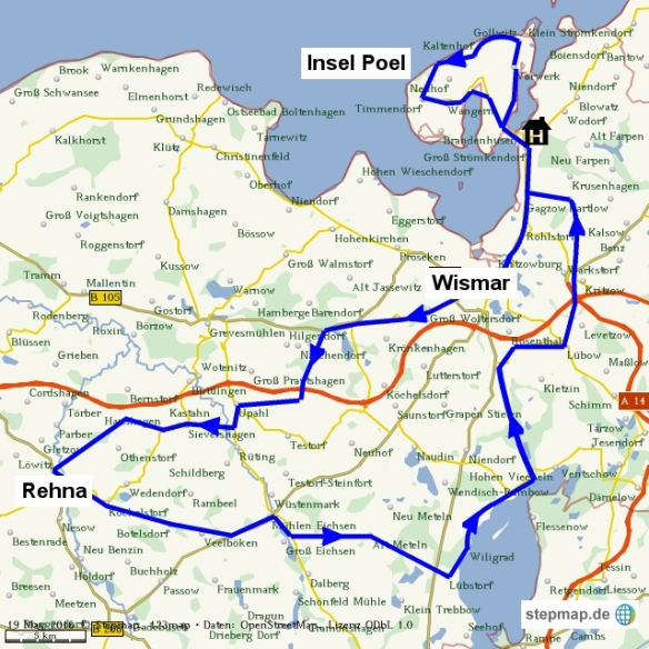Karte unserer Tour