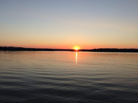 "Unser letzter Sonnenuntergang an Bord der ""Classic Lady"""